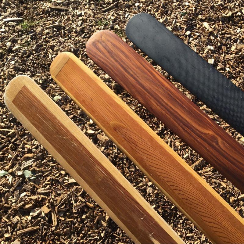 Grønlandsåre fire stk i træ og carbon