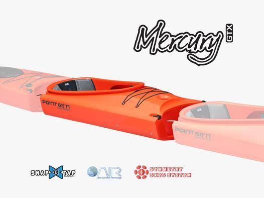 Point65 Mercury midtermodul tandem havkajak orange
