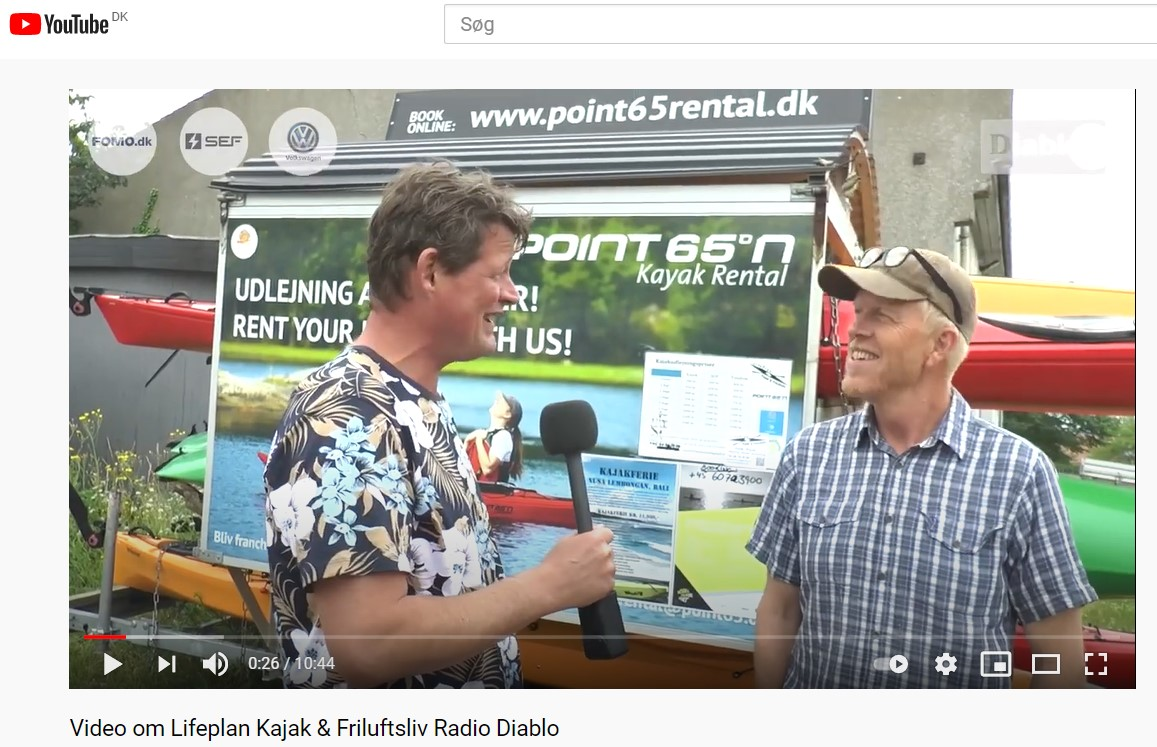 Interview Radio Diablo Frederik Laursen Lifeplan Kajak & Friluftsliv