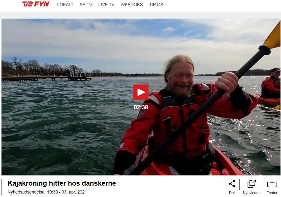 Indslag fra TV2-Fyn om havkajak i Svendborg