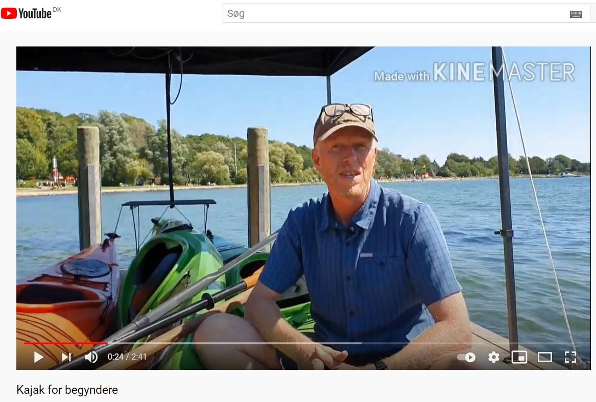 Frederik Laursen underviser om at være begynder i havkajak