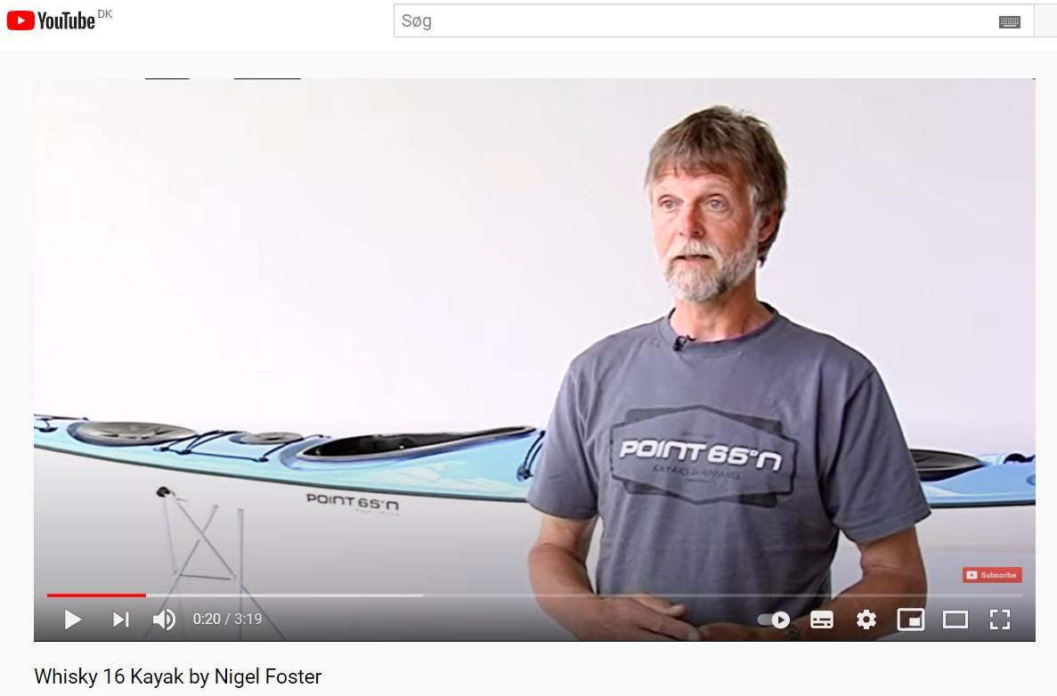 Nigel Foster fortæller om sin Point65 Whisy16 havkajak